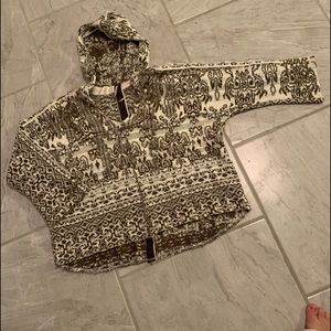 Free People hooded oversized sweater